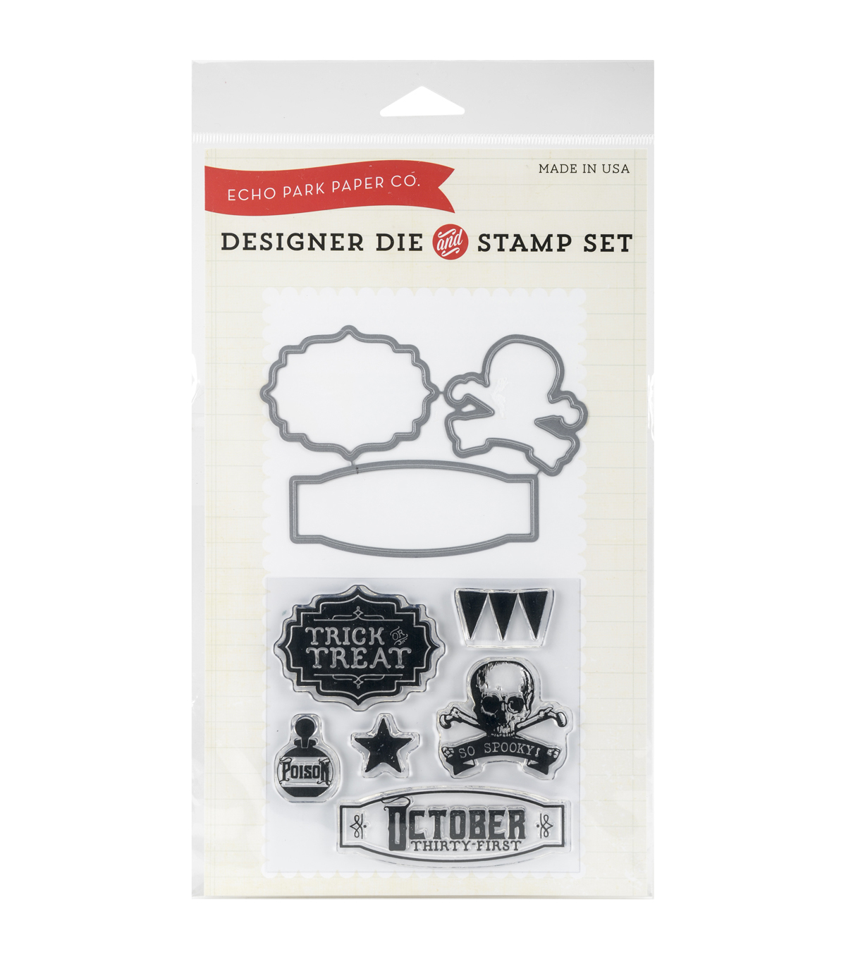 Echo Park Paper Company October 31st Die & Stamp Combo Set