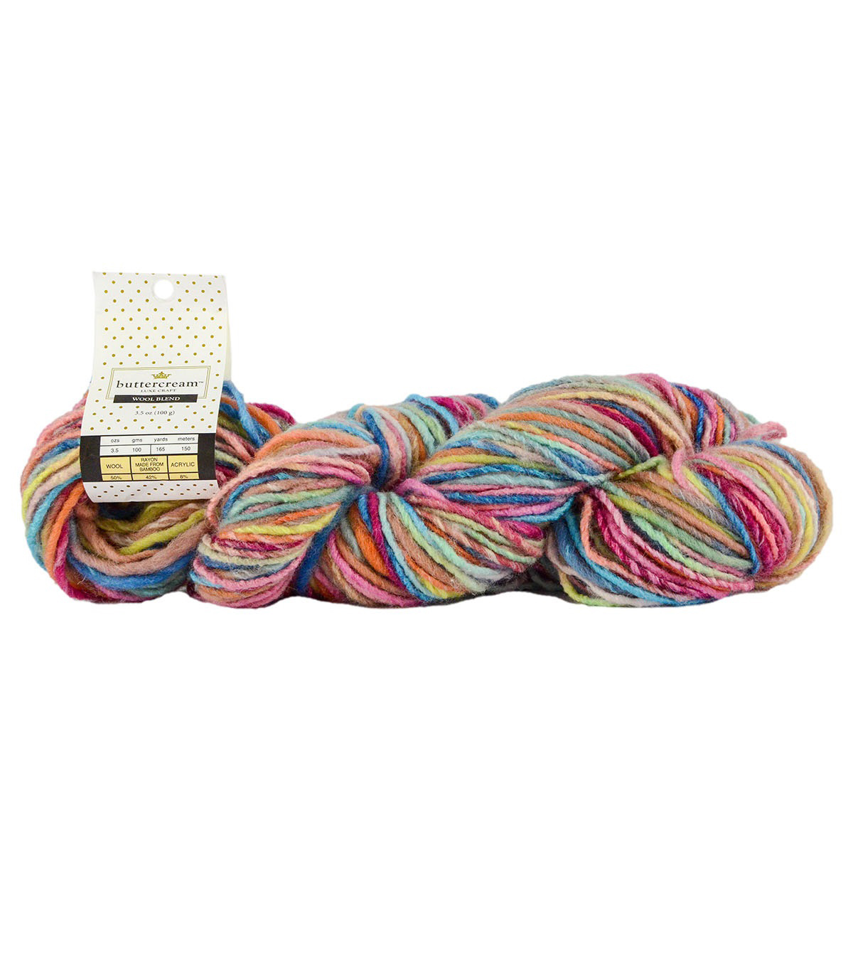 Buttercream Luxe Craft Hank Yarn