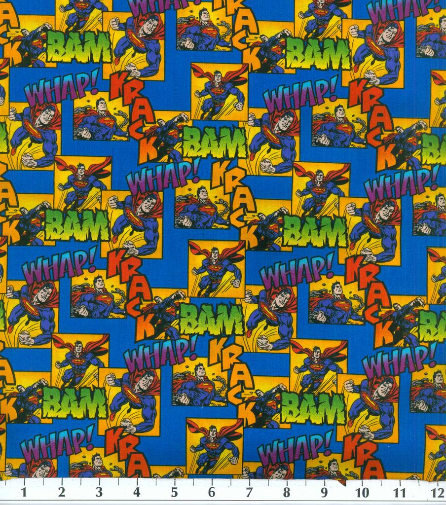 Licensed Cotton Fabric-Superman Bam | JOANN