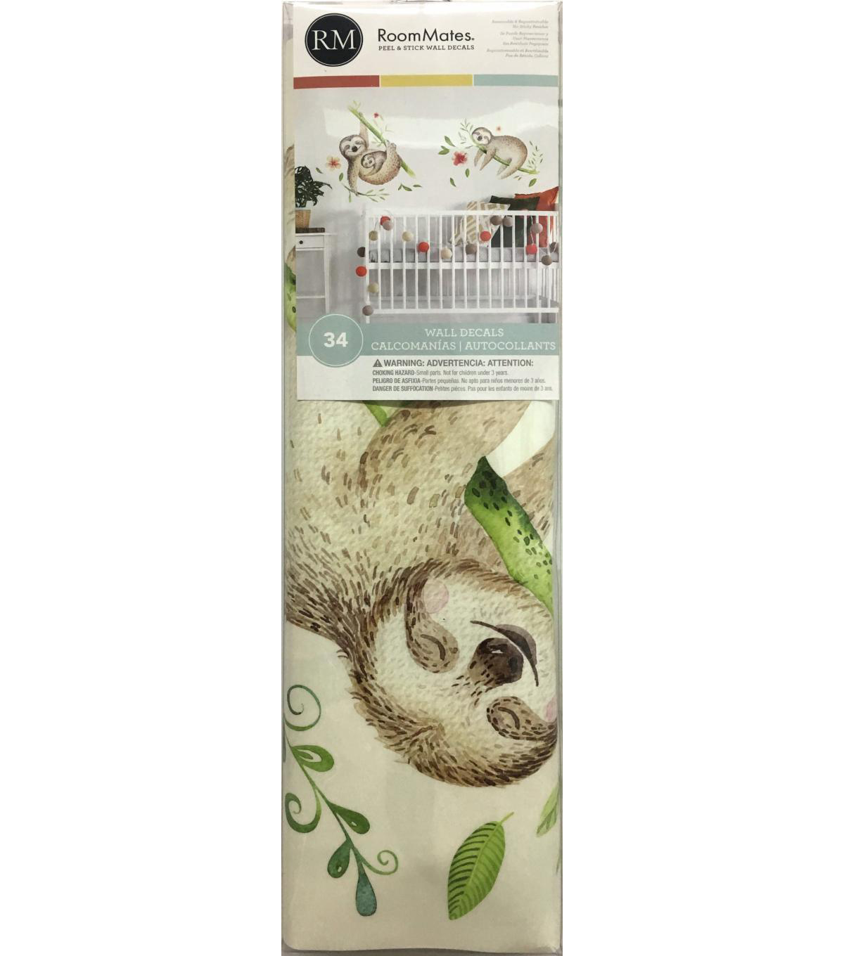 York Wallcoverings Wall Decals-Lacy Sloth