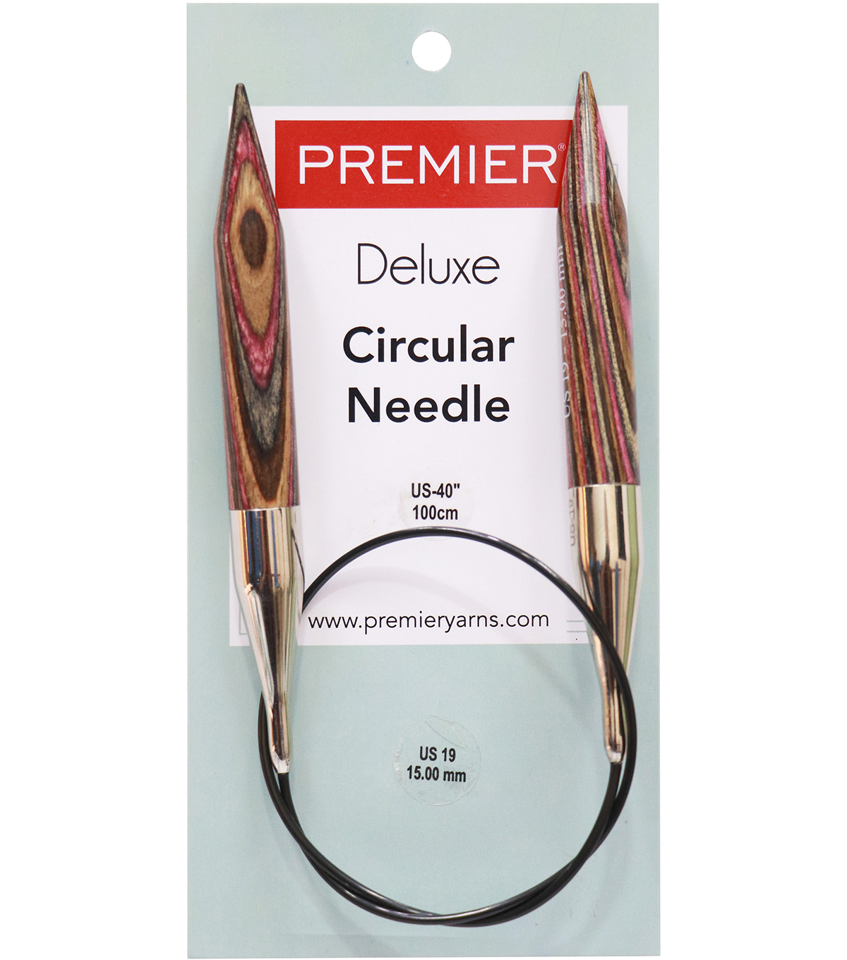 Premier Yarns Fixed Circular Needles 40\u0027\u0027 Size 19/15.0mm