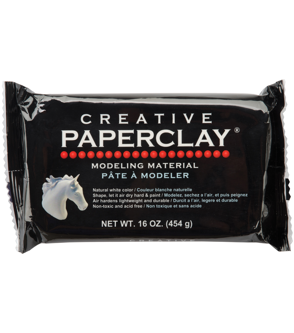 Creative Paperclay 16 Ounces-White