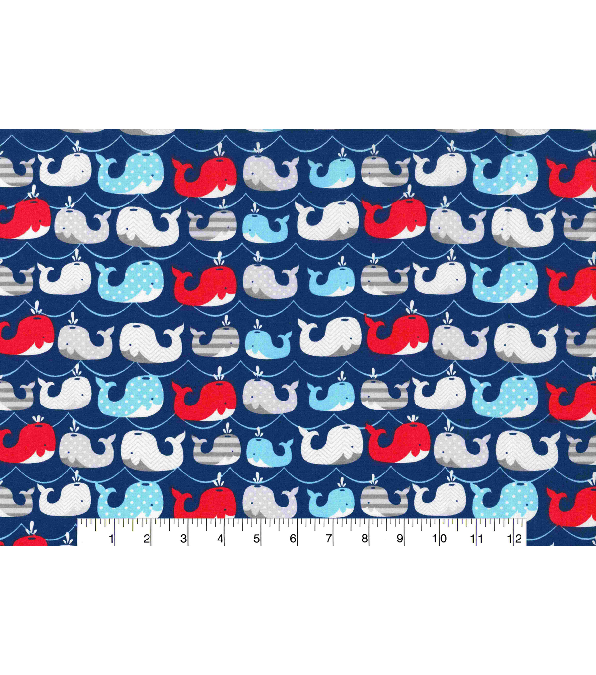 Novelty Cotton Fabric 43\u0022-Whales