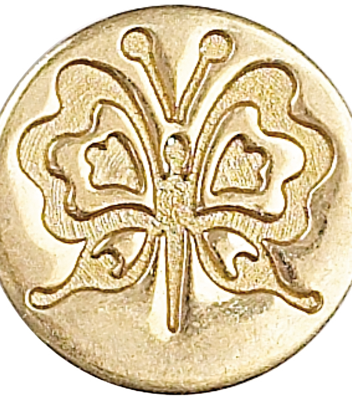 Manuscript Decorative Seal Coin-Butterfly