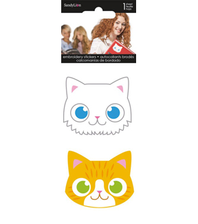 Sandylion 2 pk Embroidered Stickers-Cats