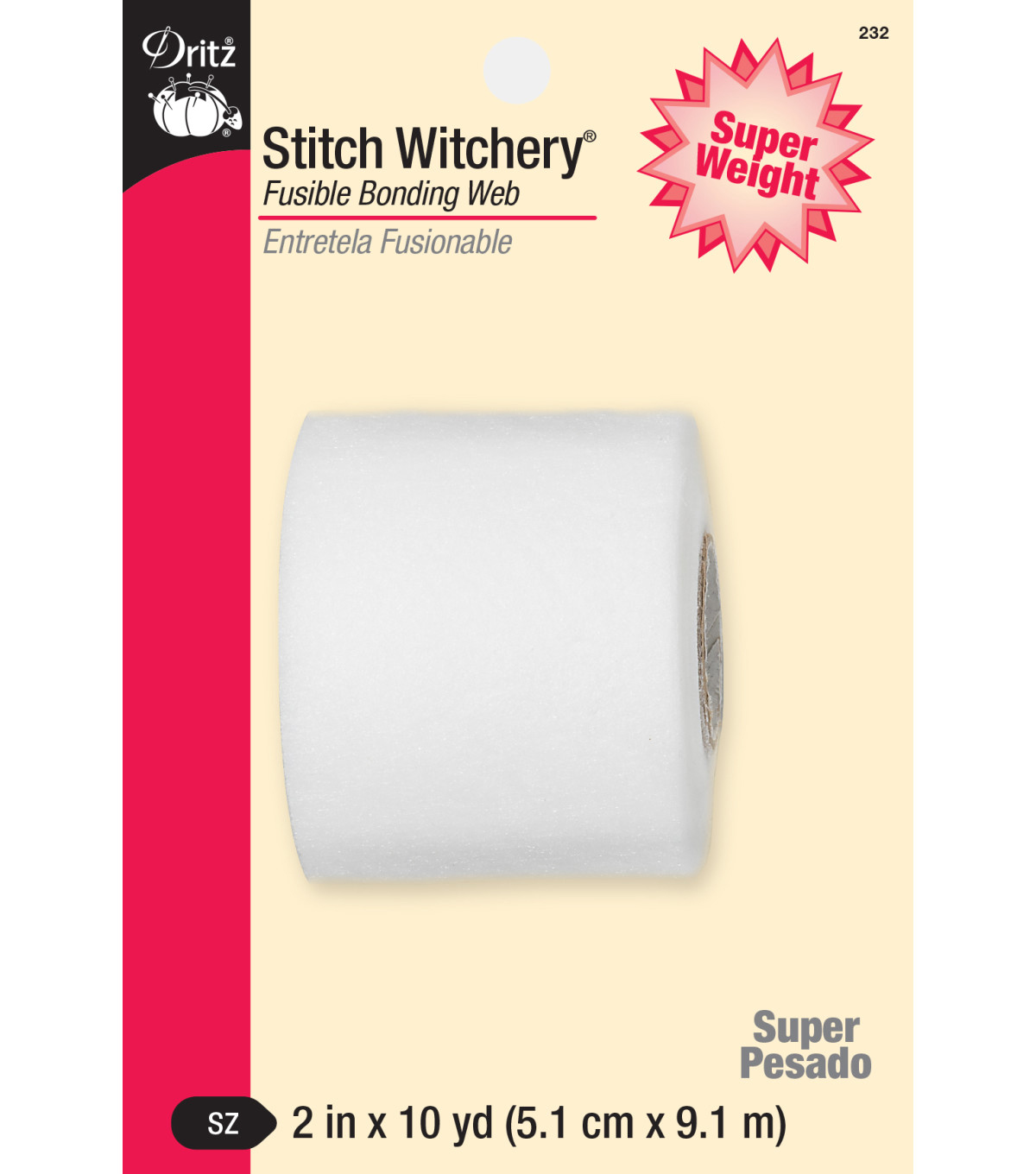 Dritz Stitch Witchery Super Weight Fusible Bonding Web 2\u0022x10yds