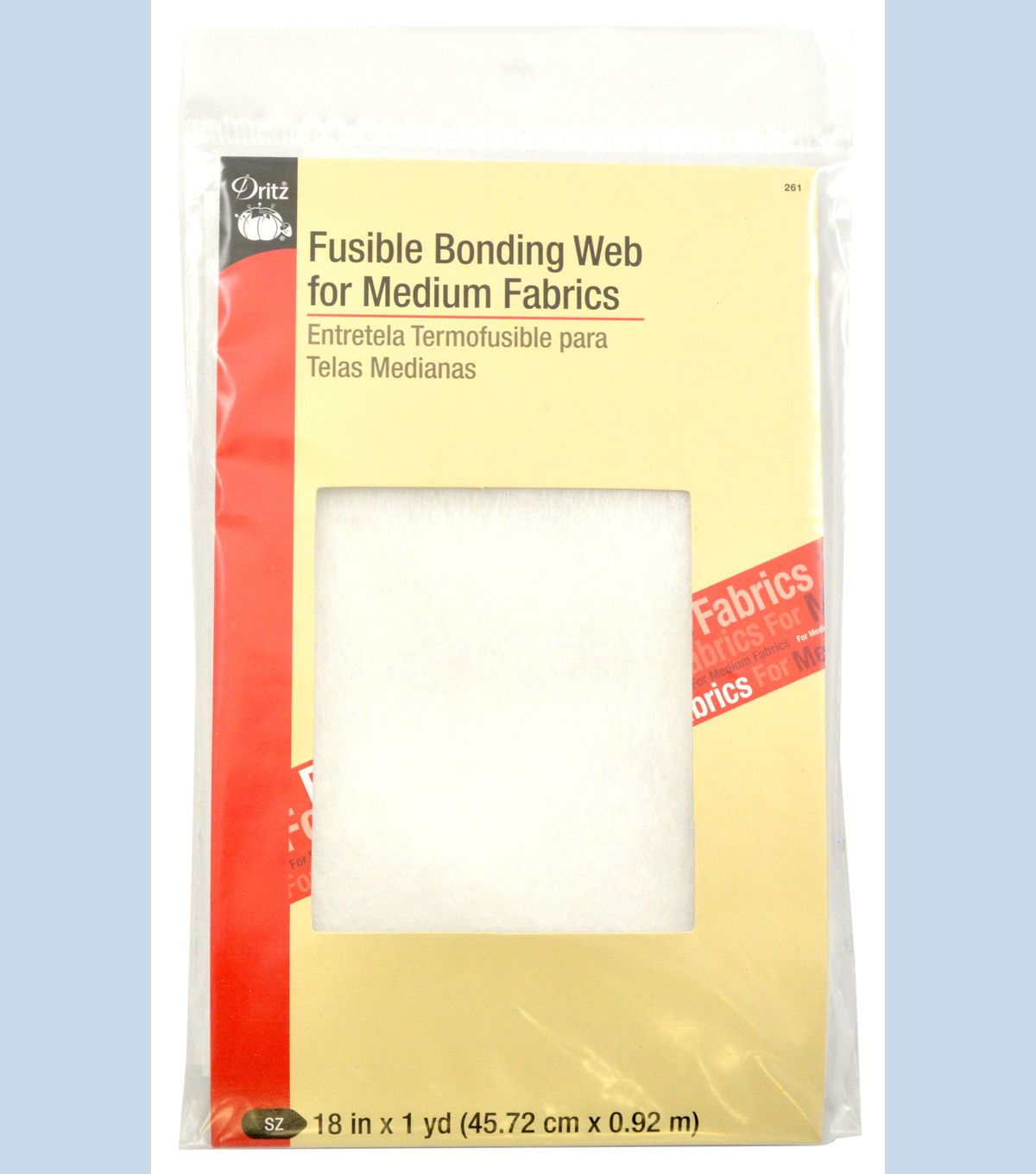 Dritz Fusible Bonding Web Medium White 18\u0022X1Yd
