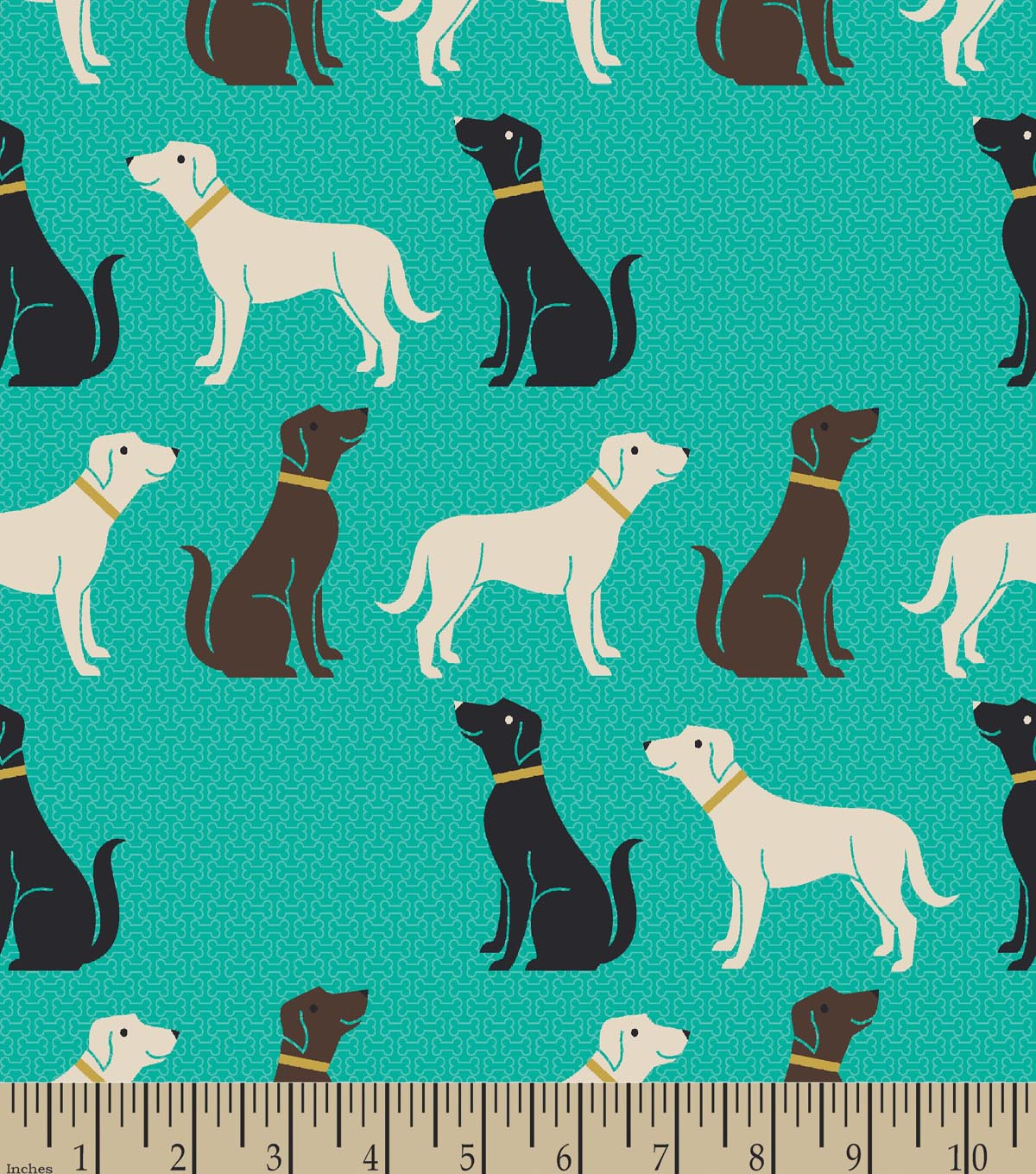 Labrador Retriever Print Fabric