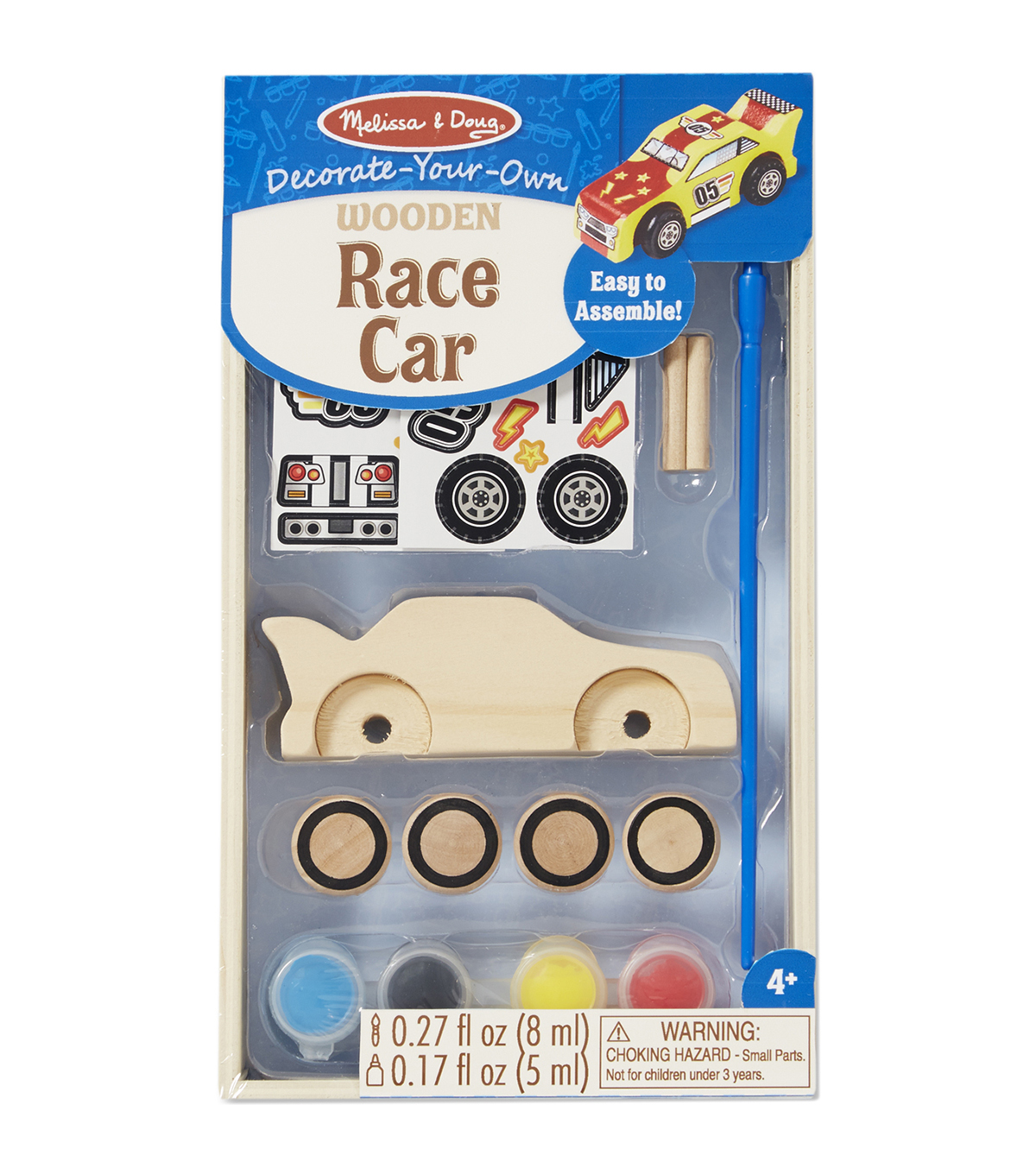 Melissa & Doug Decorate-Your-Own Wooden Kit-Race Car