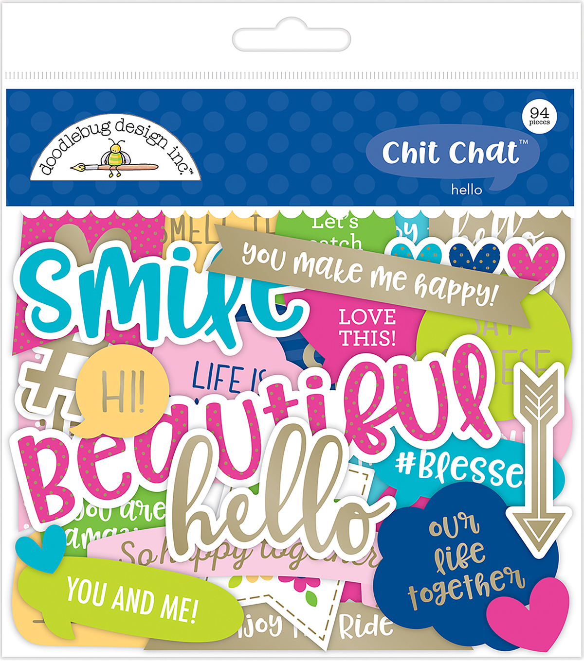 Doodlebug Design Hello Chit Chat 94 pk Die-Cuts