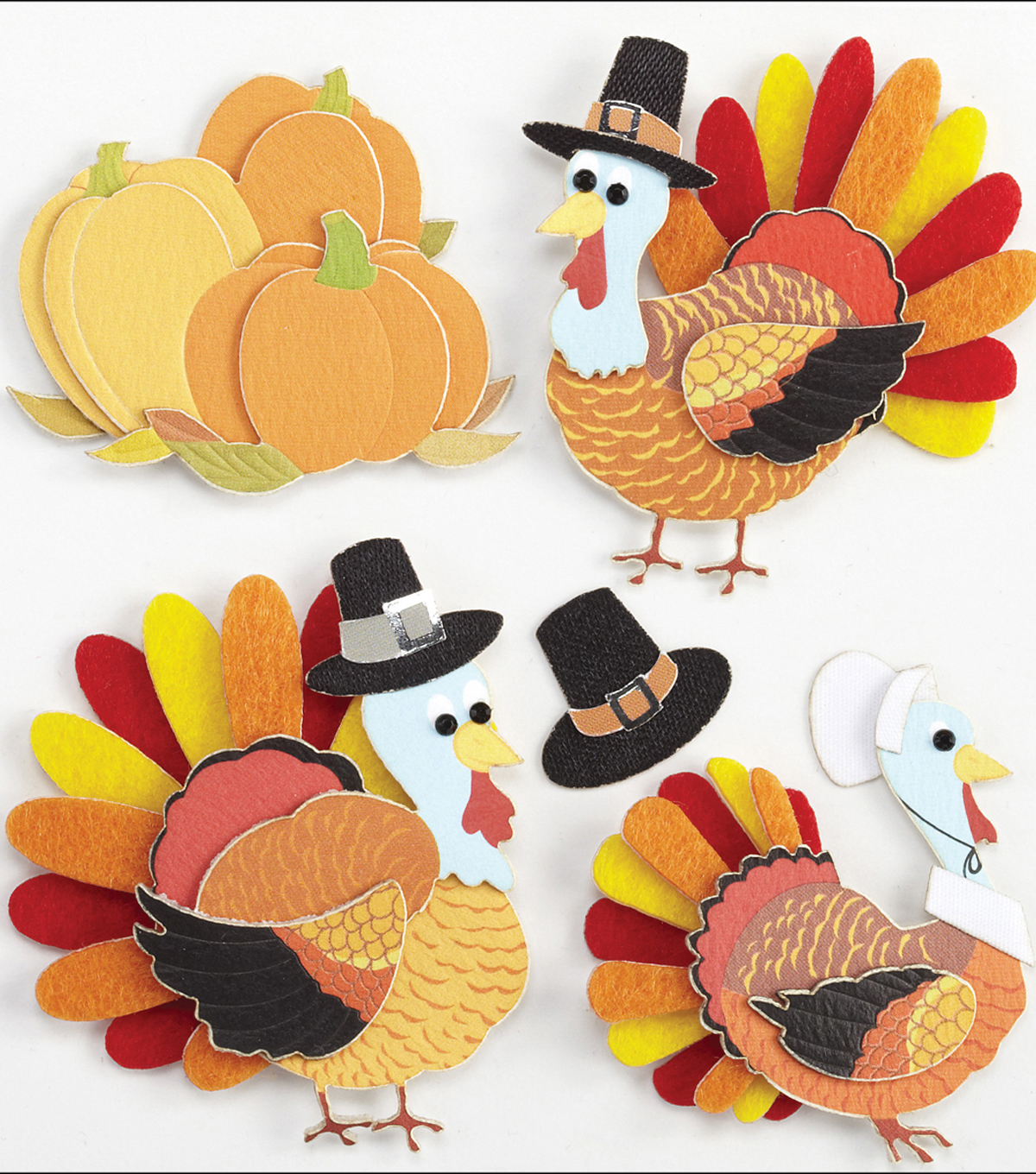Jolee\u0027s Boutique Dimensional Stickers-Turkey Characters