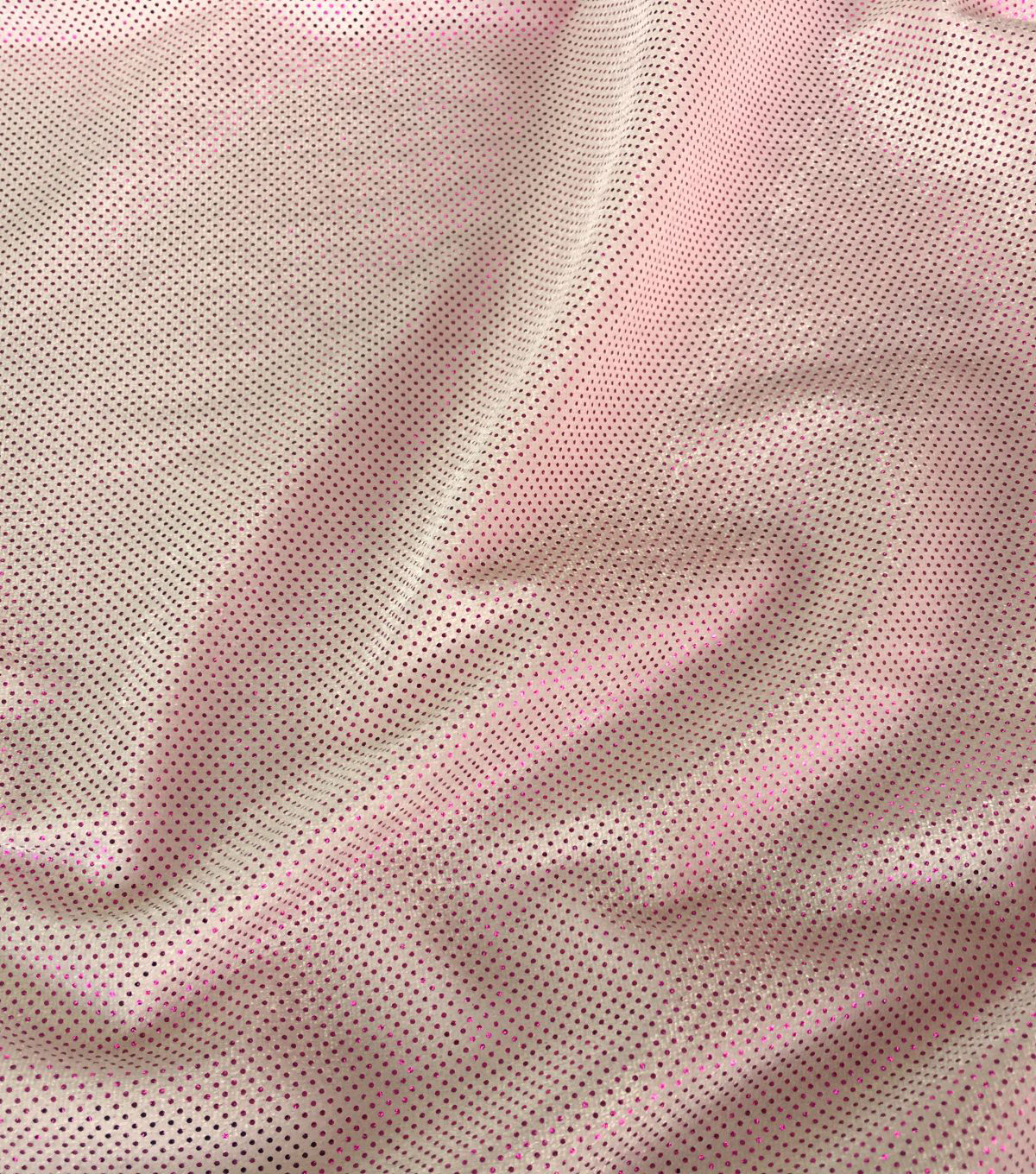 Glitterbug Foil Fabric -Light Pink