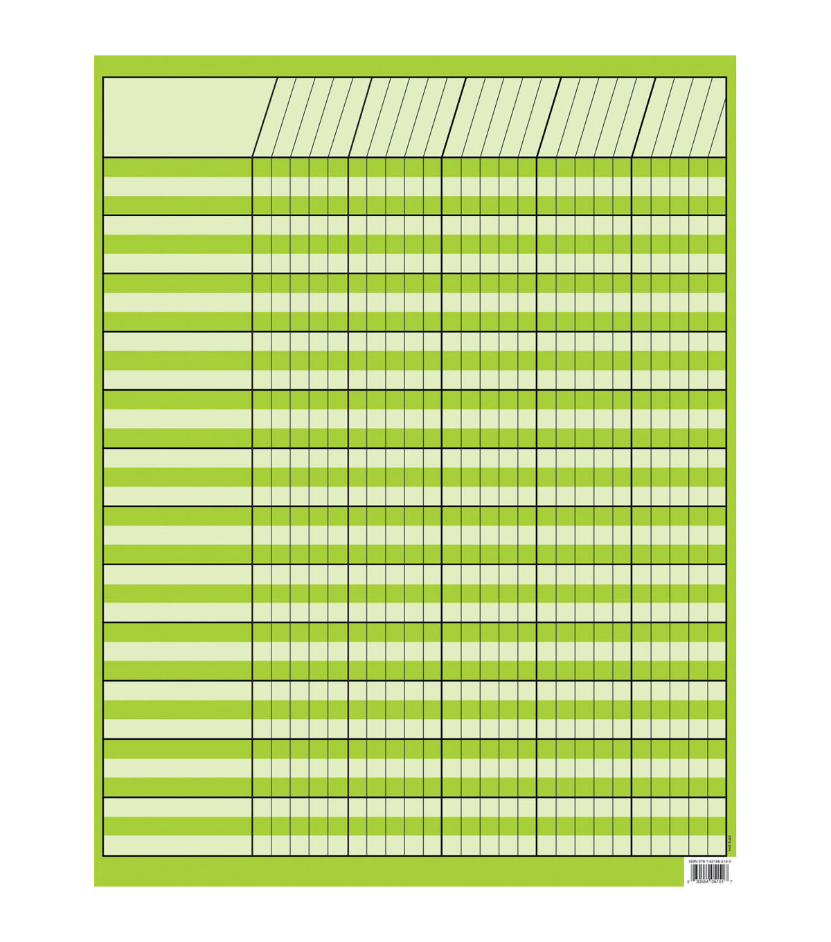 Lime Green Incentive Chart, Pack of 10