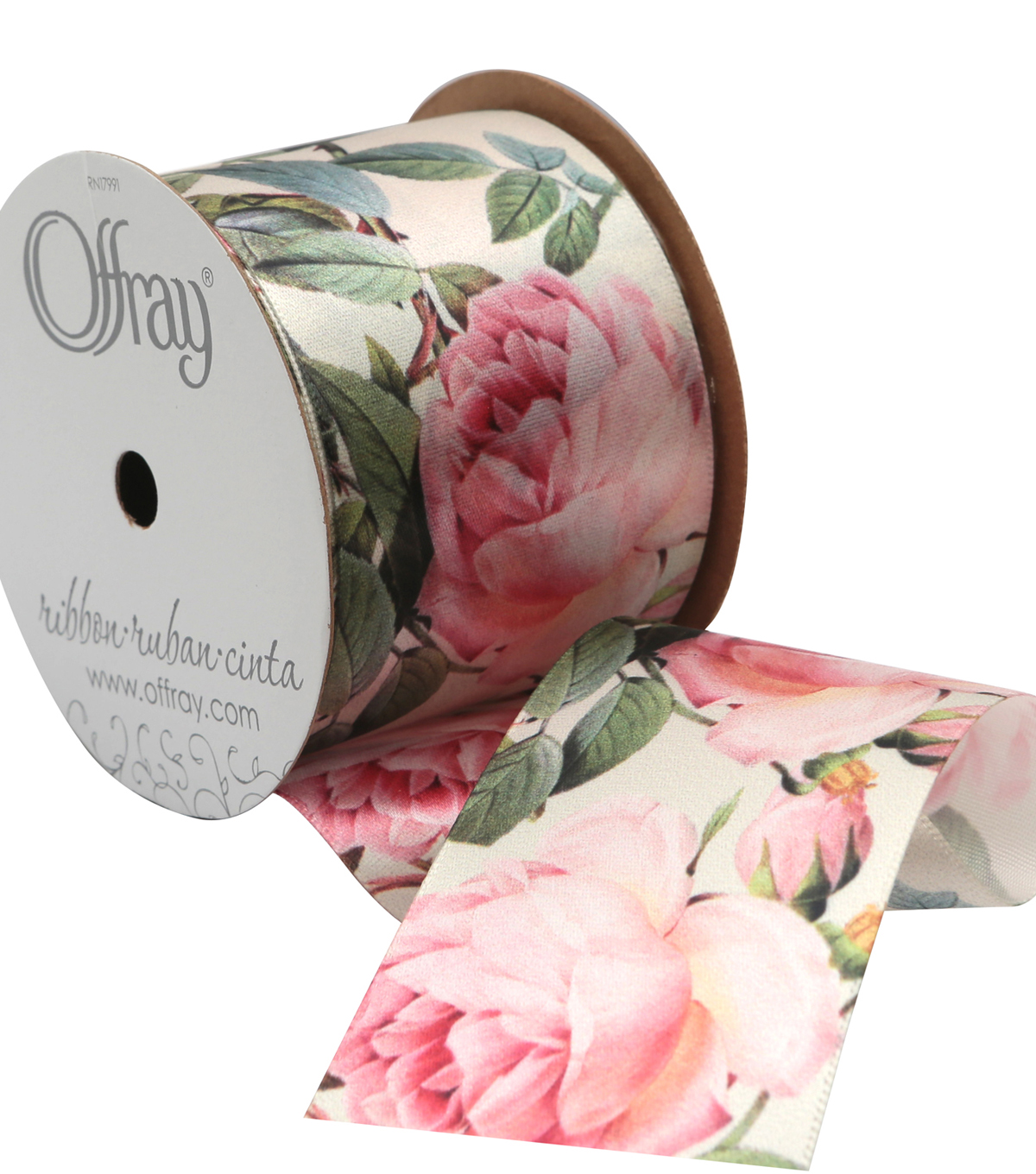 2 And One Qtr Asian Garden Floral 3 Ribbon