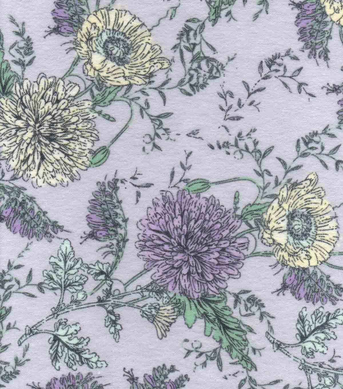 Snuggle Flannel Fabric -Mystic Sketched Floral