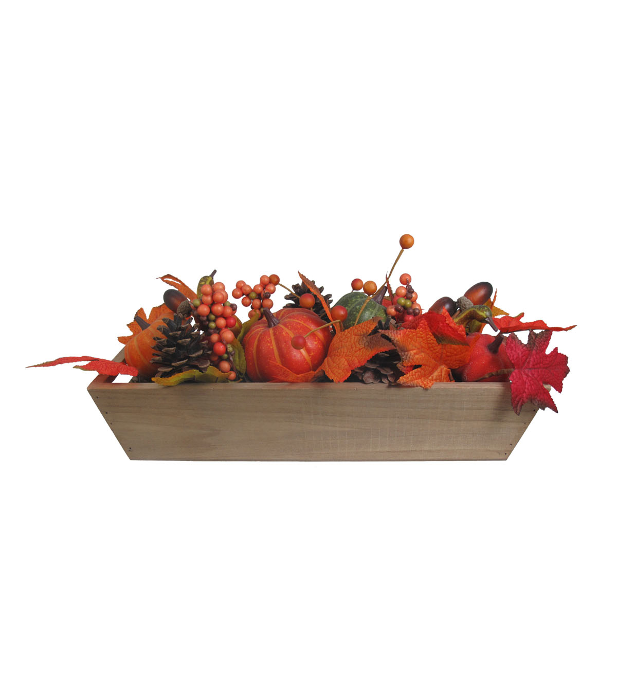 Simply Autumn Wood Tray Arrangement-Multi