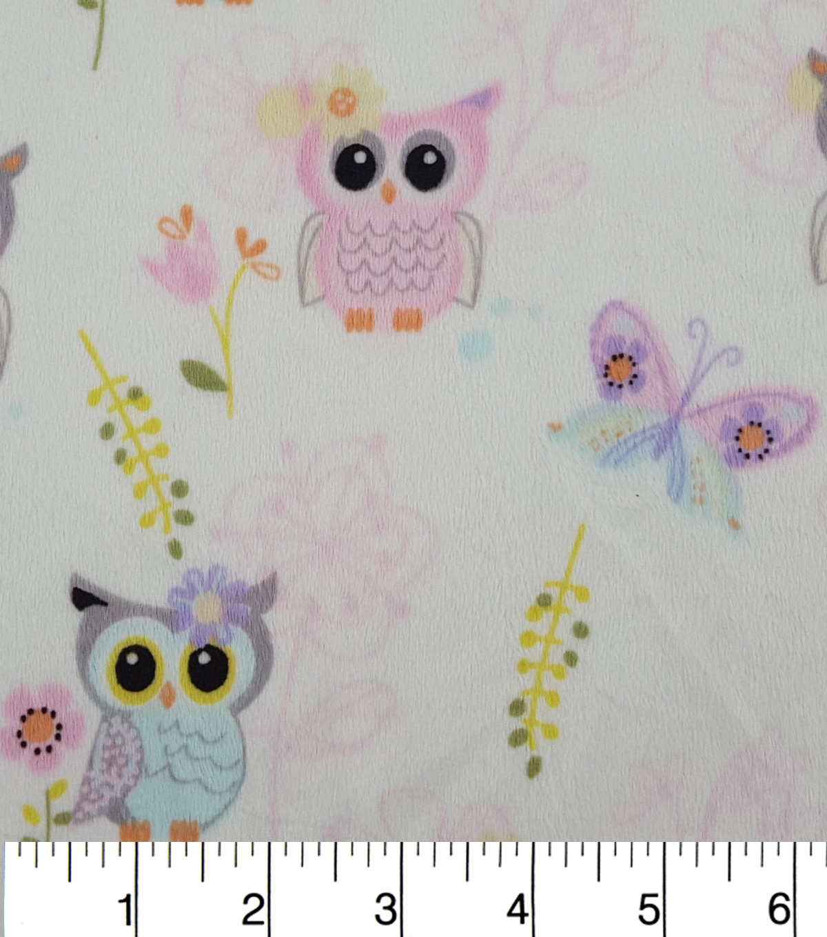 Soft N Comfy Fleece Fabric 57\u0022-Bright Eyes Owl