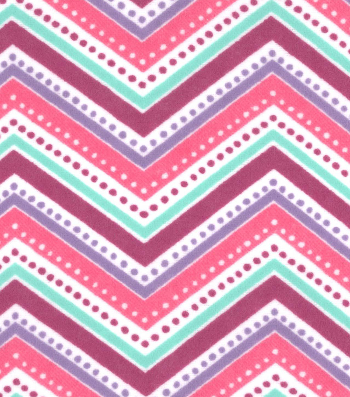 Snuggle Flannel Fabric -Gypsy Dotted Chevron