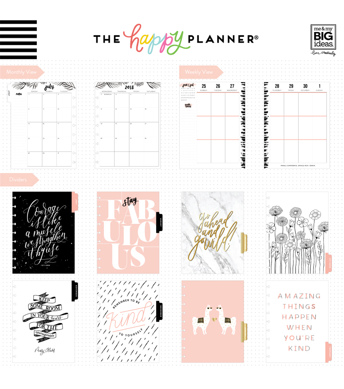 The Happy Planner Classic Dated Planner-Gold Getter
