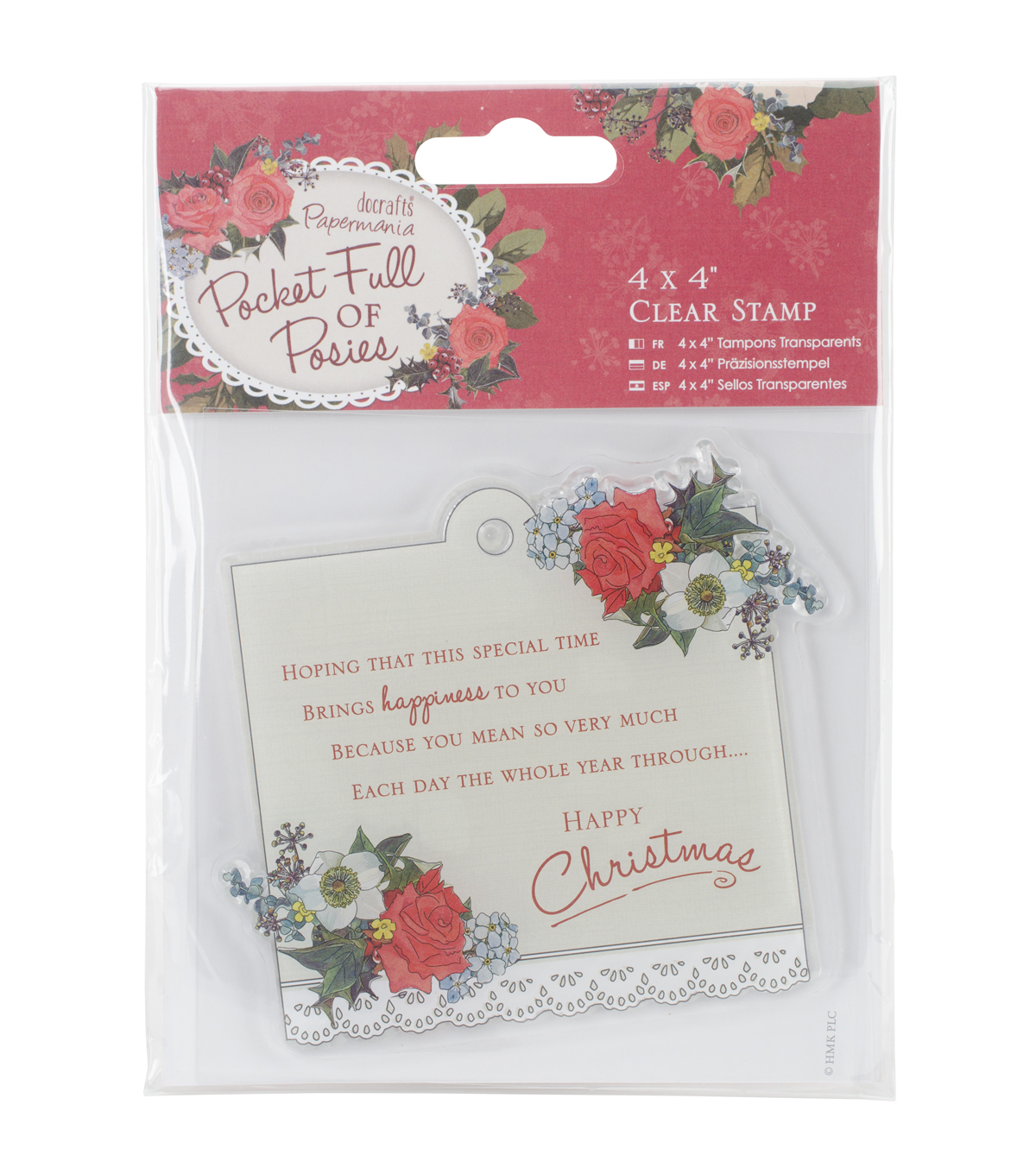 Papermania Pocket Full Of Posies Clear Stamps-Sentiment