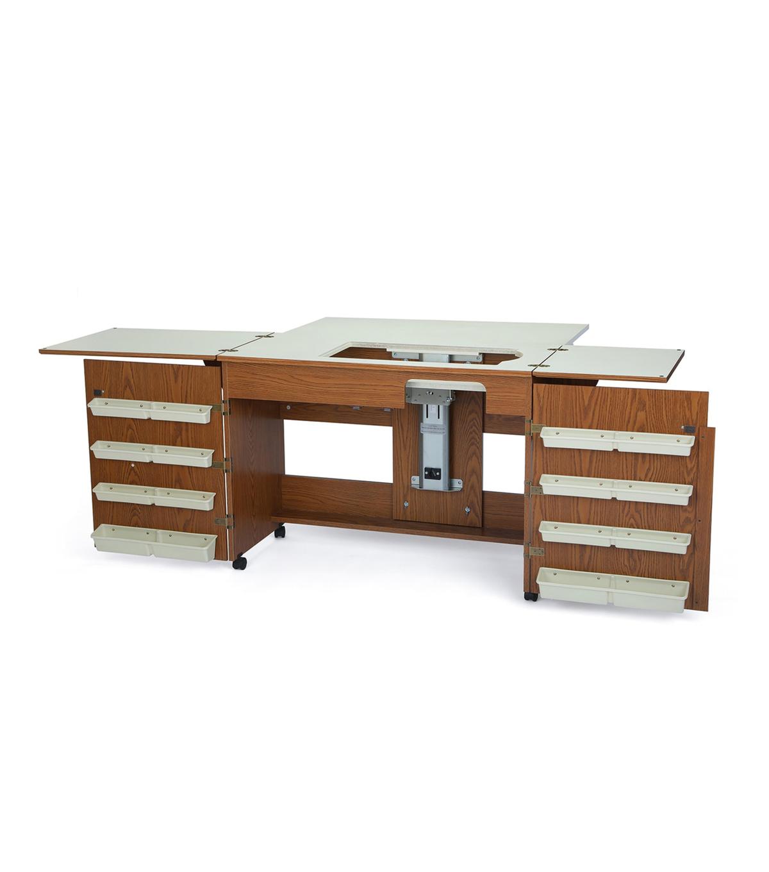 Homespun Bertha Sewing CabinetOak JOANN Amazing Bertha Sewing Machine Cabinet