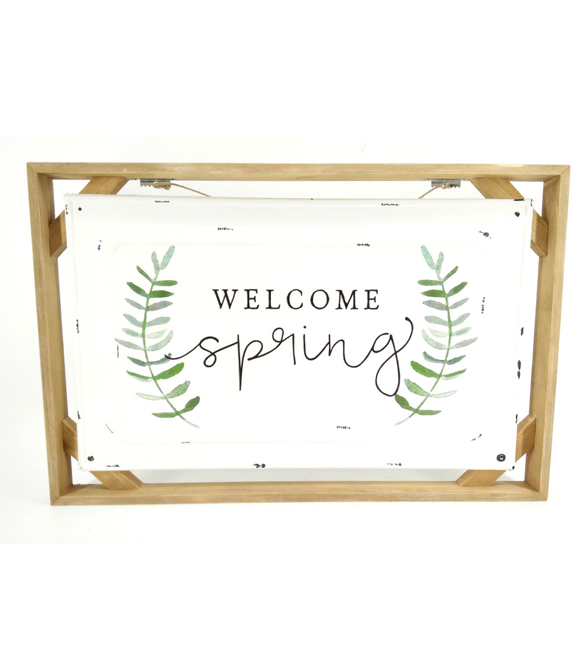 Simply Spring Metal & Wood Wall Decor-Welcome Spring