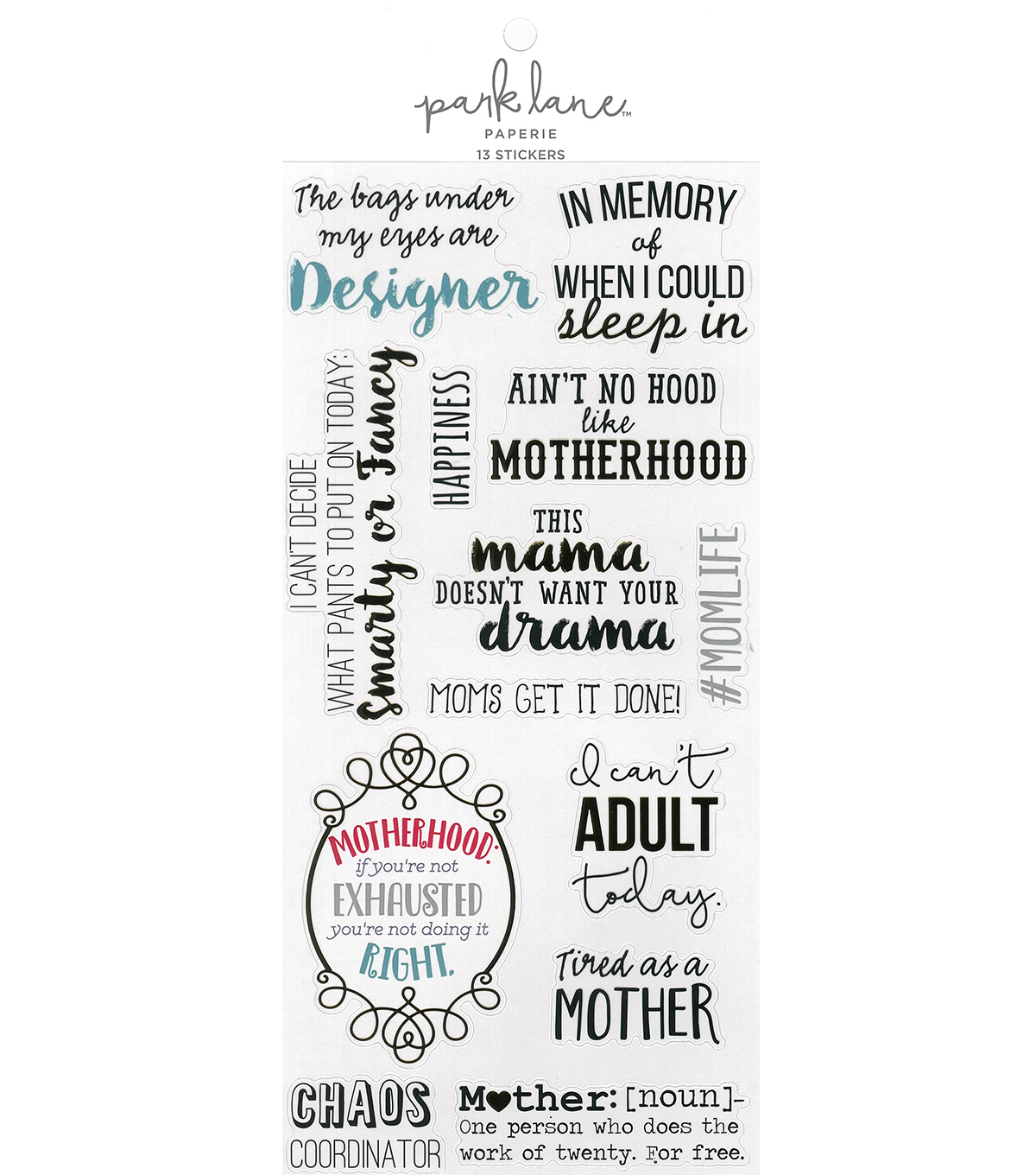 Park Lane Mother Sticker Sheet 13/Pkg