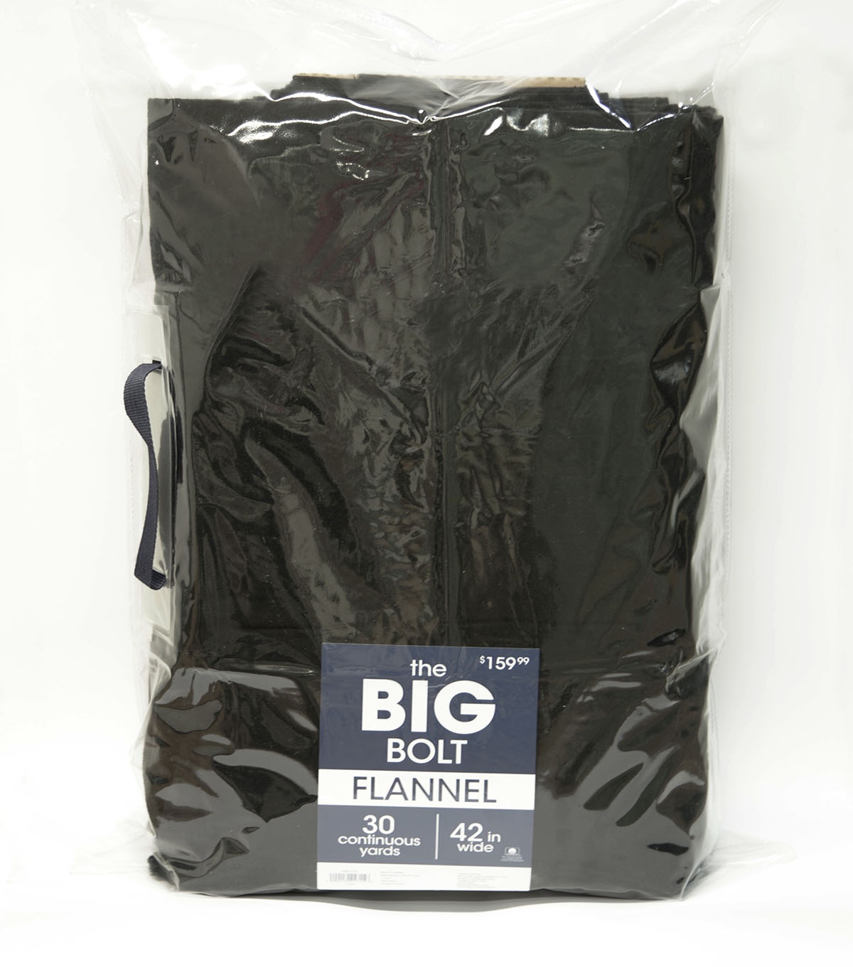 The BIG Bolt Cozy Flannel Fabric x30 yds-Black