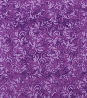 Keepsake Calico Cotton Fabric -Bellflower Textured Scroll