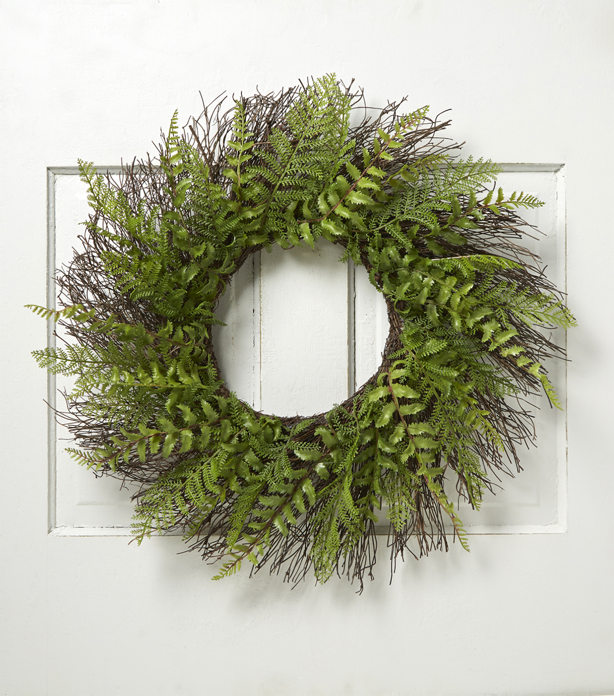 Bloom Room 24\u0027\u0027 Fern & Twig Wreath-Green