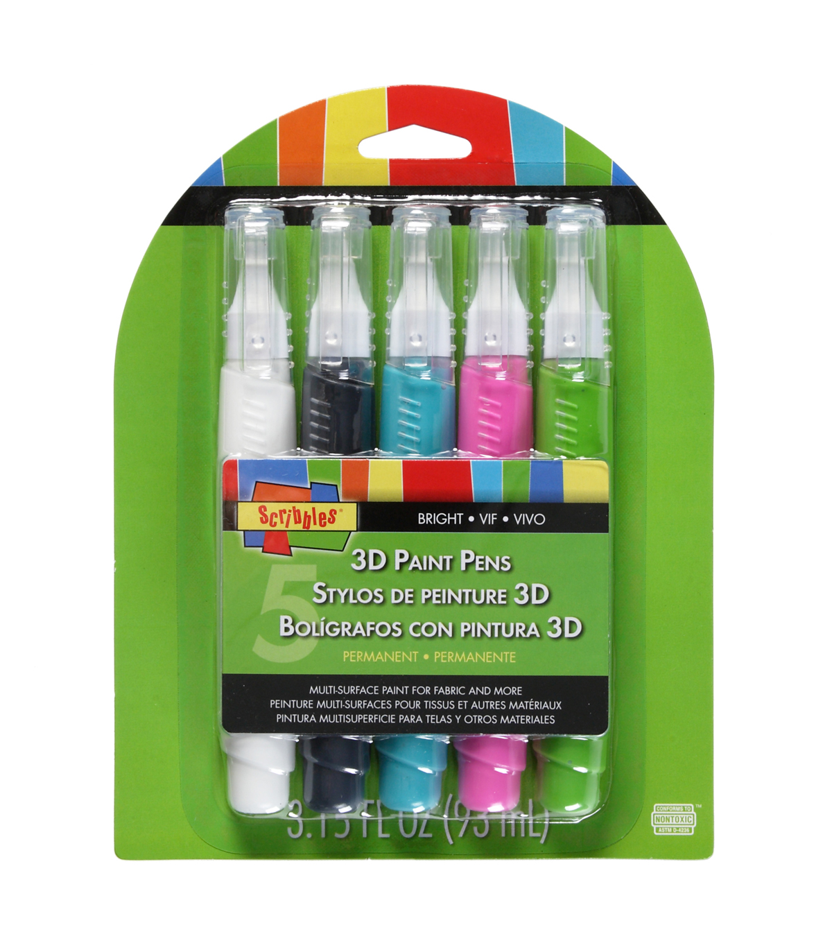 Scribbles Paint Pens - Brights