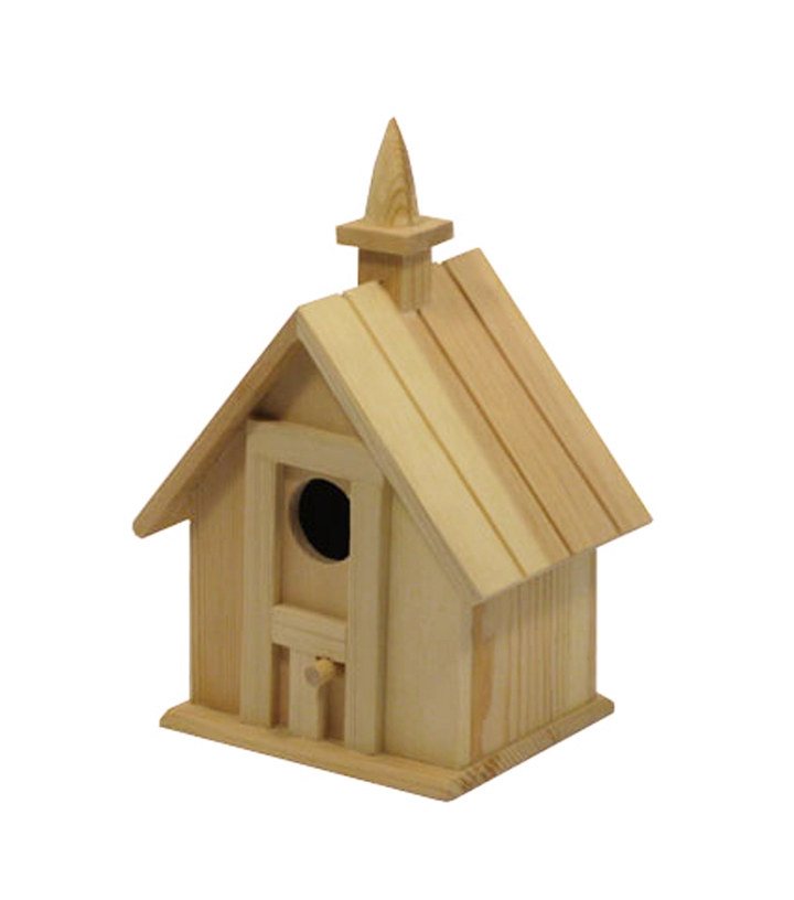 Wood Large Birdhouse with Chimney