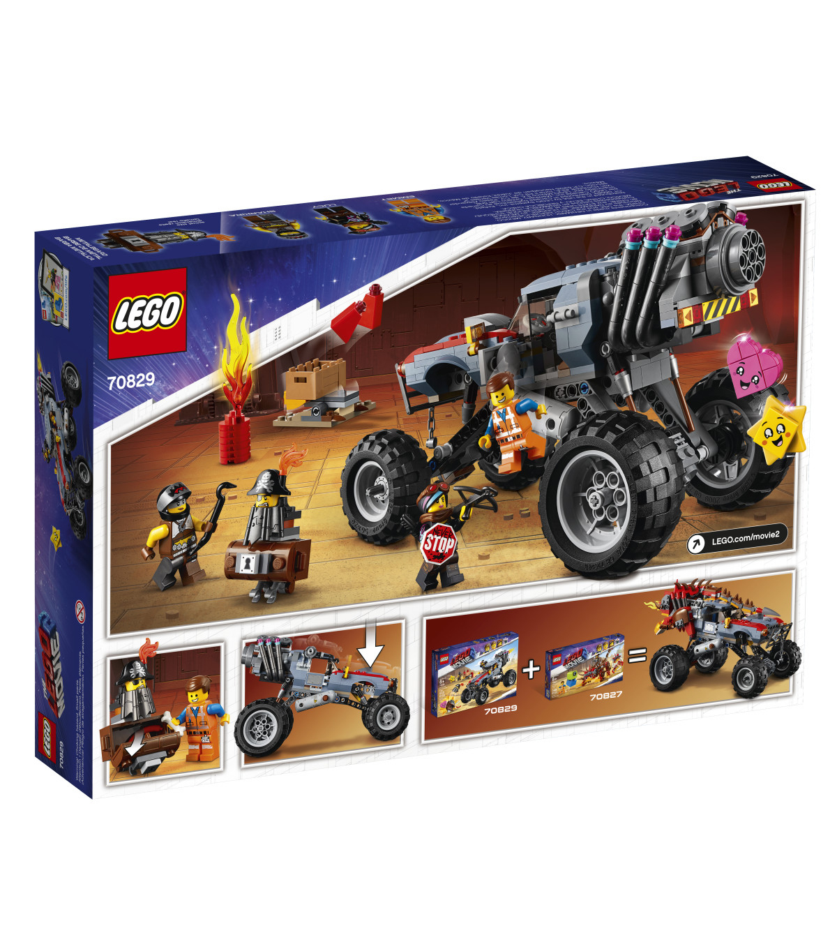 LEGO Movie Emmet and Lucy\u0027s Escape Buggy! 70829