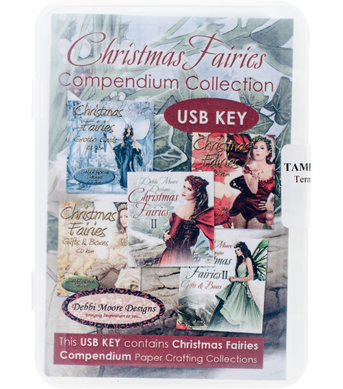 Debbi Moore USB KEY Compendium Paper Craft Collection-Christmas Fairies