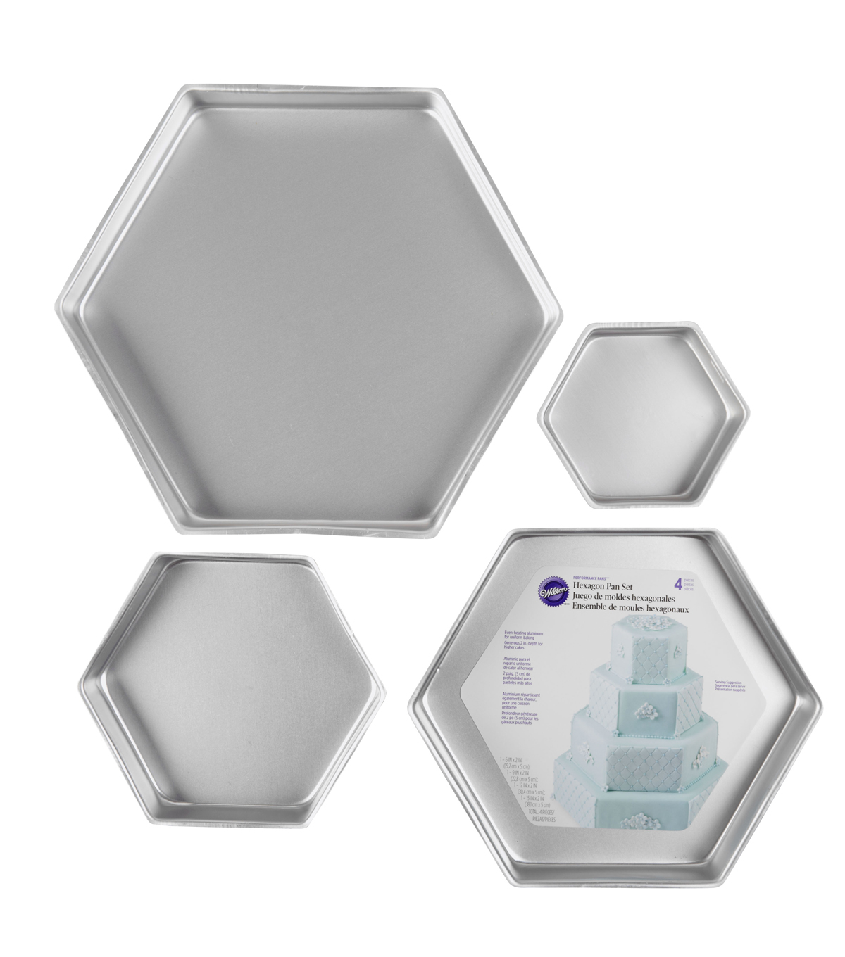 Wilton Performance Cake Pan Set Hexagon