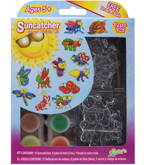 Kelly\u0027s Suncatcher Group Activity Kit-Insects
