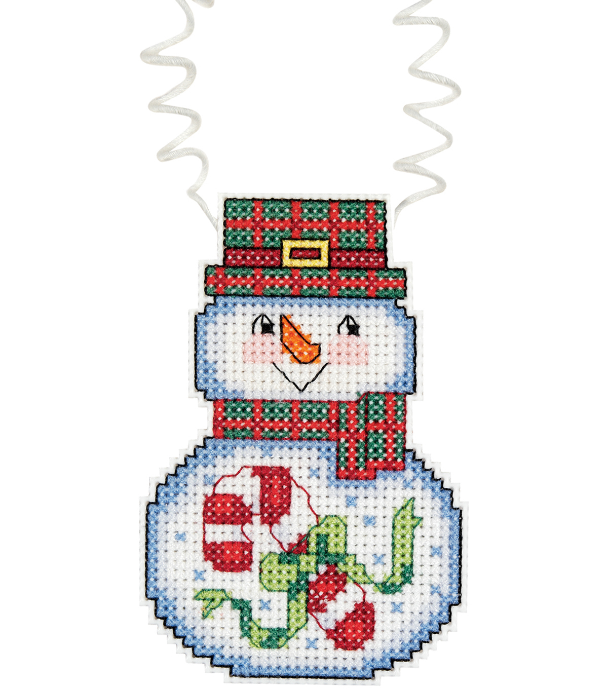 Janlynn Holiday Wizzers Snowman With Candy Cane Counted Cross Stitch