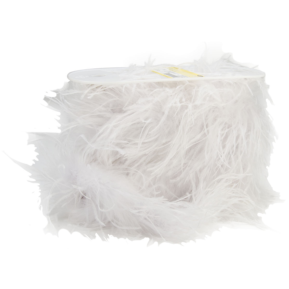 6In White Ostrich Feather Boa