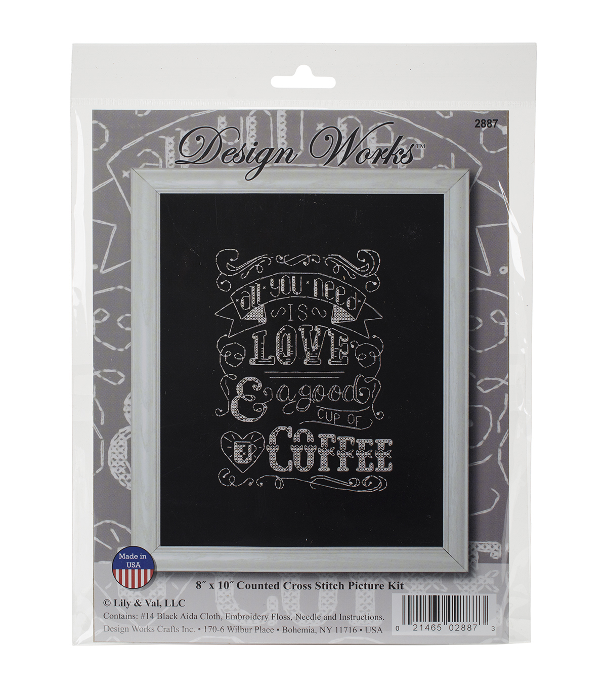 Design Works All You Need Is Love Counted Cross Stitch Kit