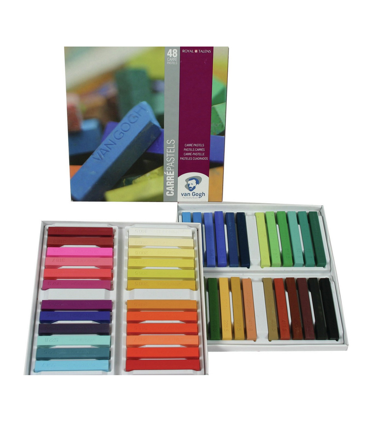 Van Gogh Carre Oil Pastels Set 48/Pkg-General Selection