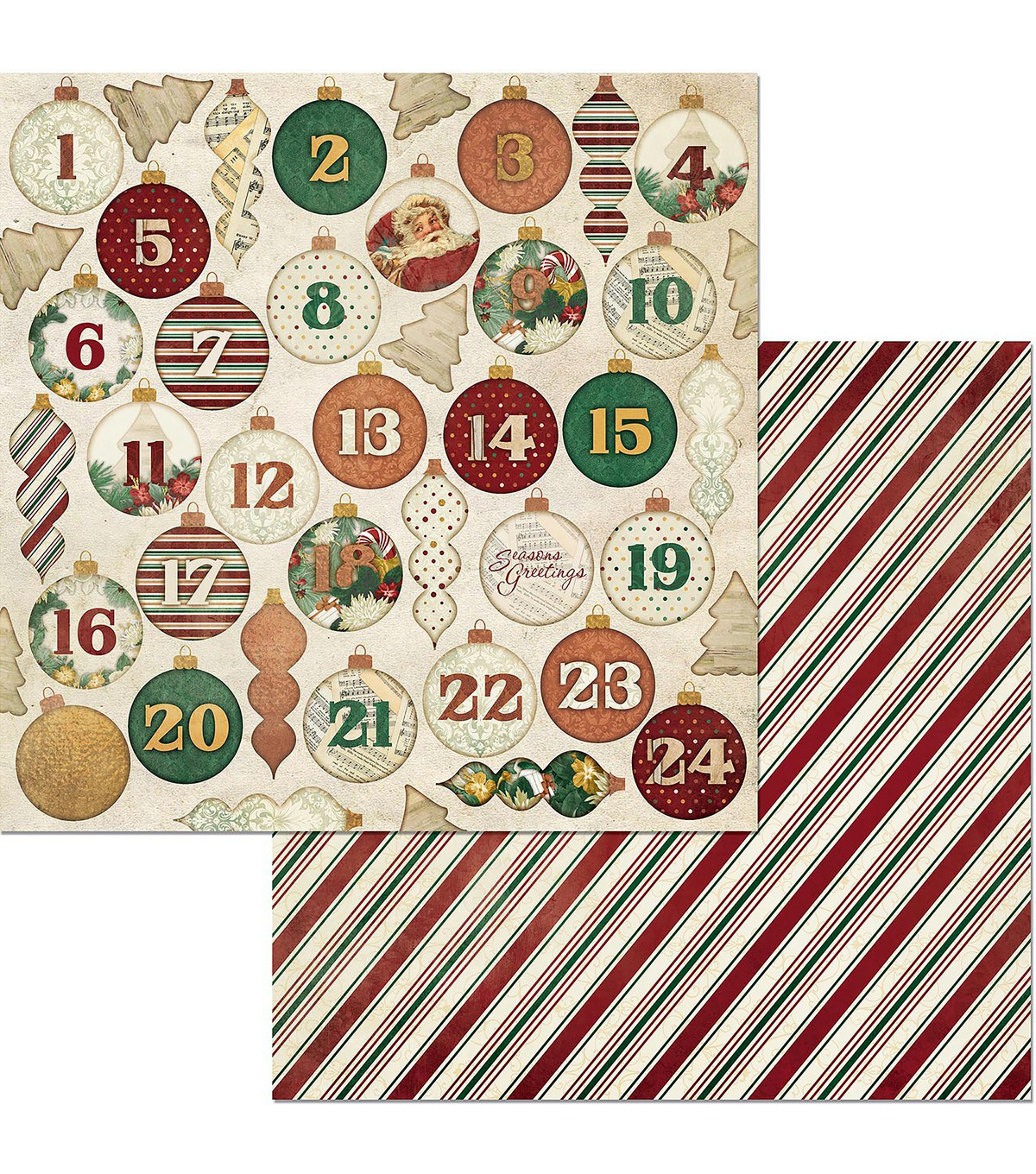 Yuletide Carol Double-Sided Cardstock 12\u0022X12\u0022-Advent