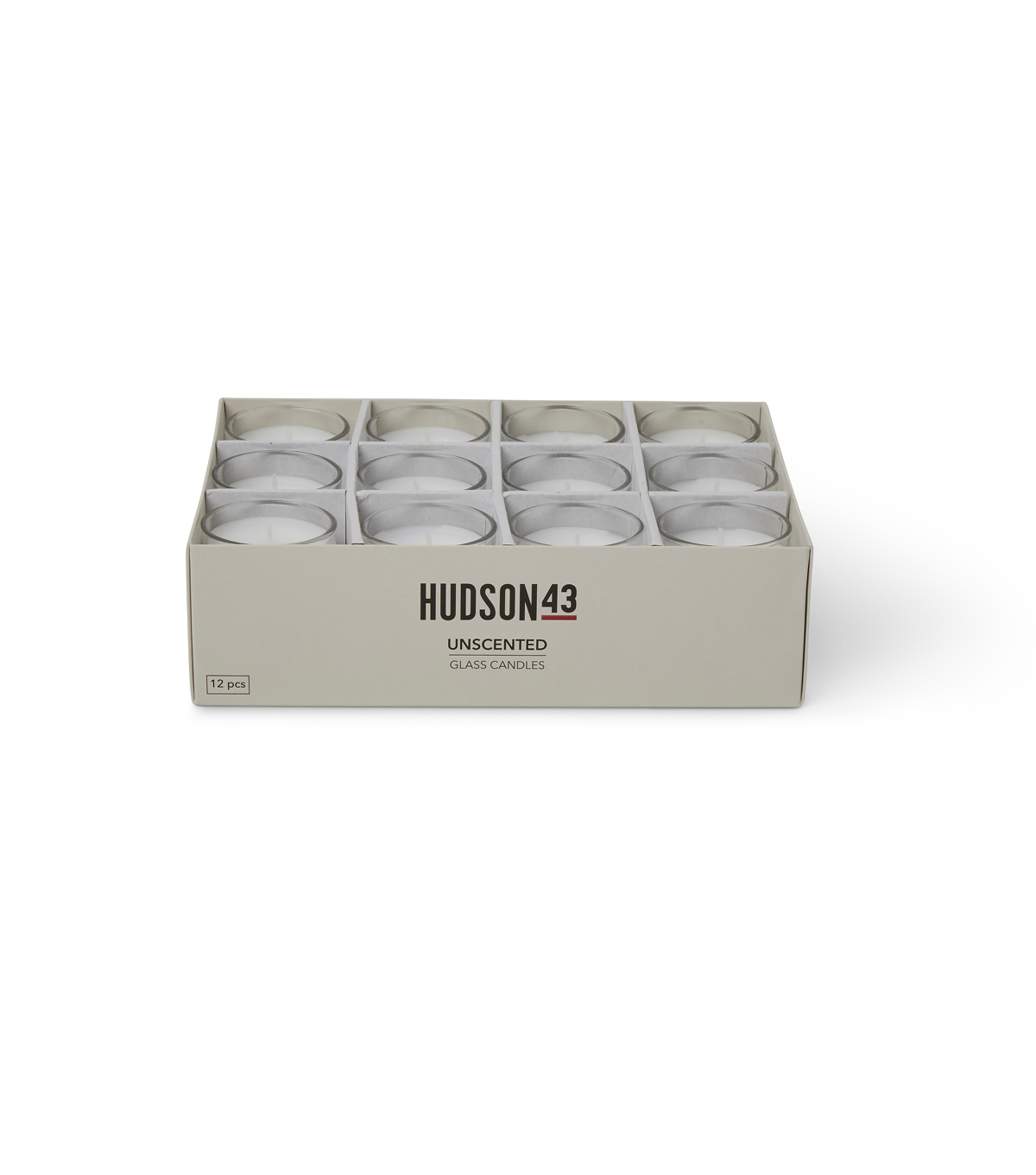 7c8120c4975 Hudson 43 Candle   Light Unscented Glass Votive Candles-White