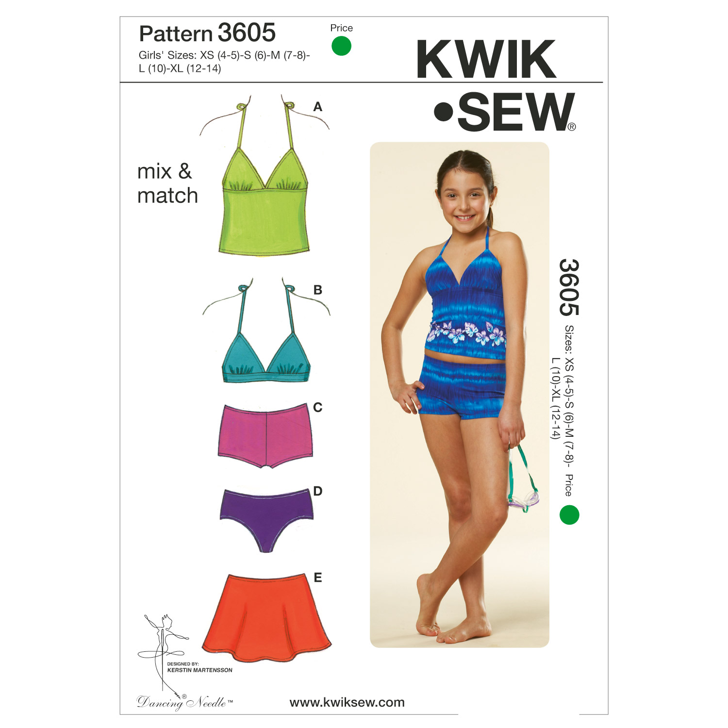 Kwik Sew Child Casual-K3605
