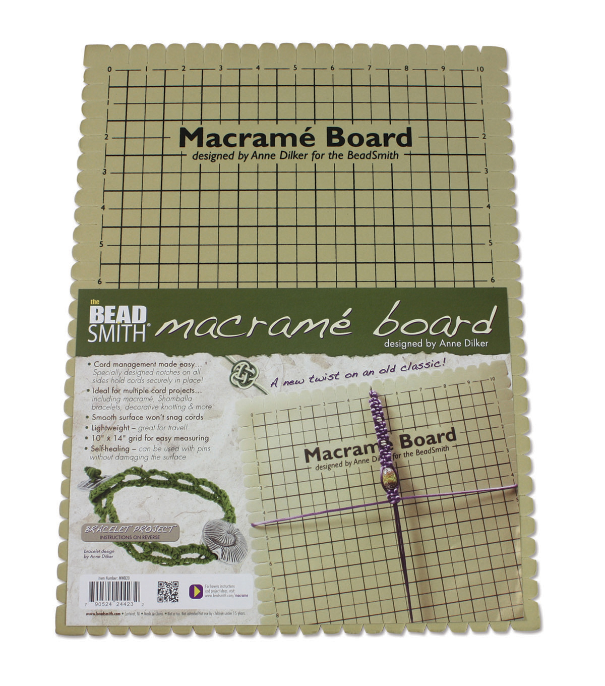The Beadsmith Anne Dilker Macrame Board