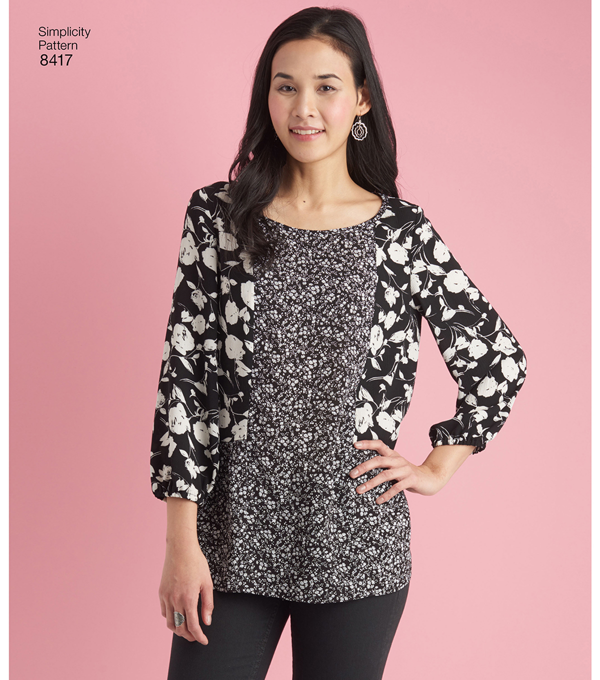 Simplicity Pattern 8417 Misses\u0027 Pullover Tops-Size H5 (6-8-10-12-14)