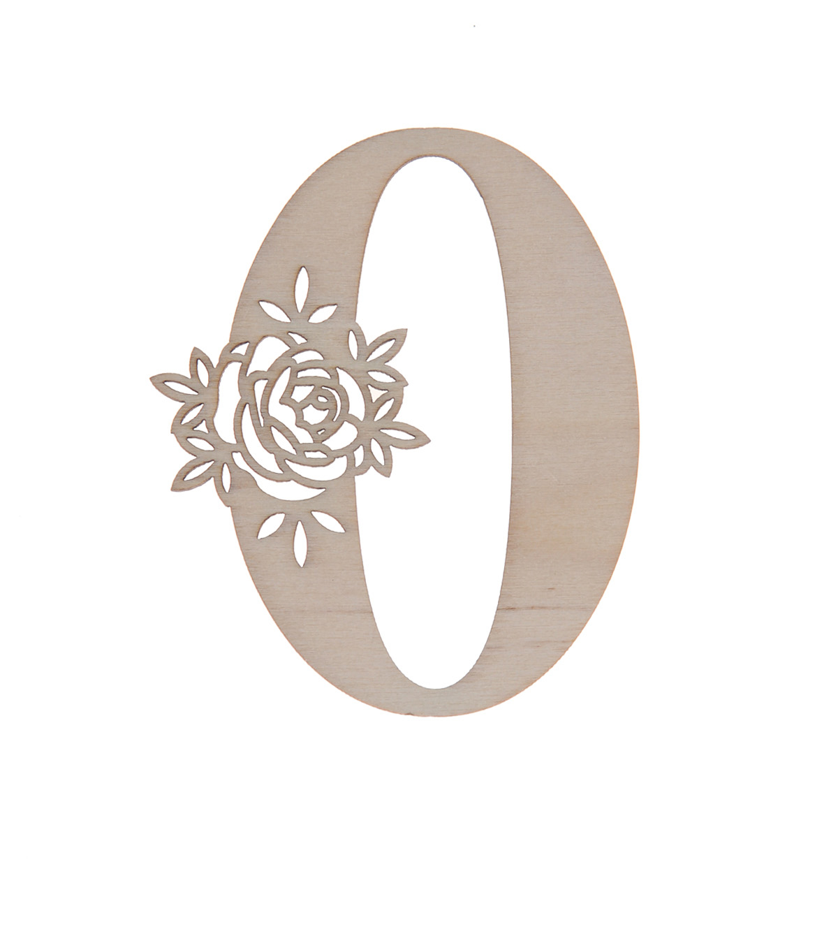 Simply Spring 3\u0027\u0027x3\u0027\u0027 Unfinished Wood Number with Floral, 0