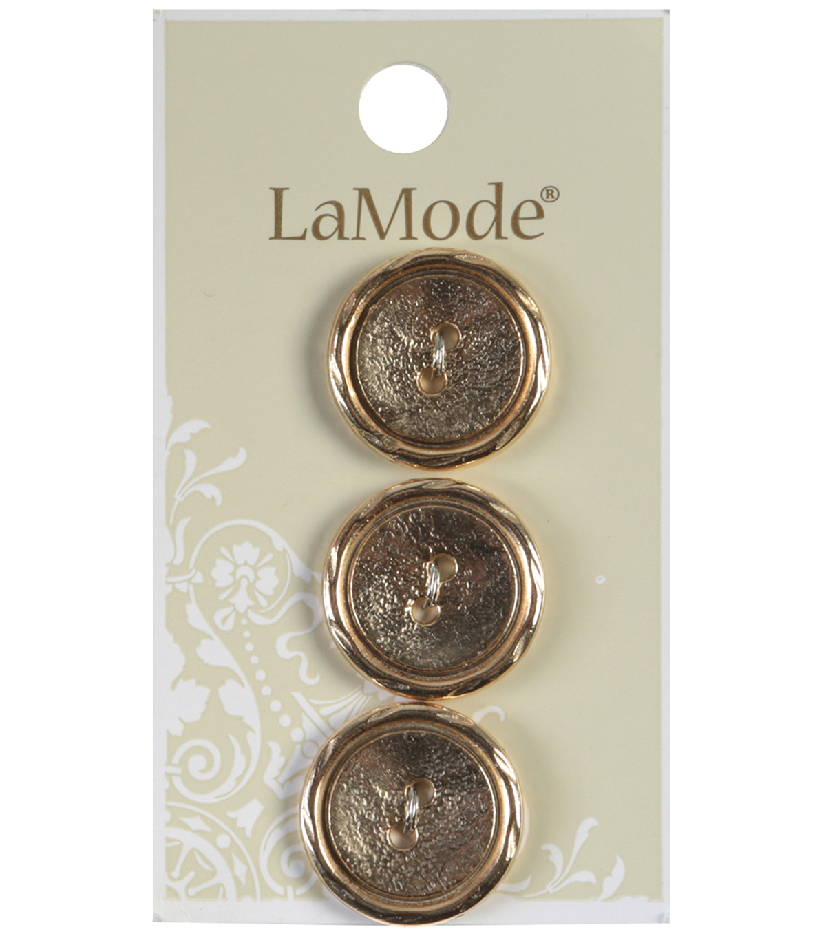 LaMode 2 Hole Gold Metal Buttons 20mm