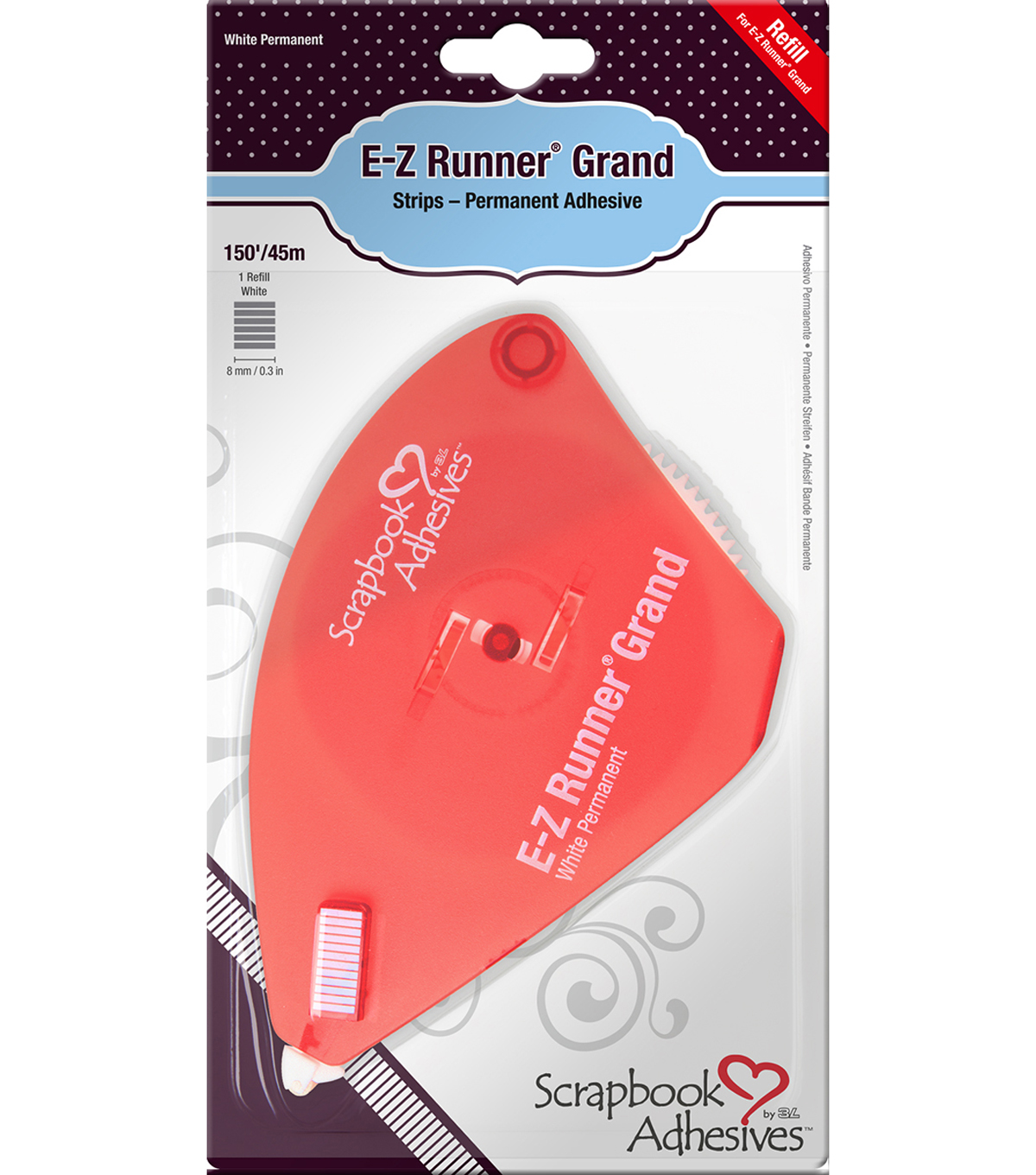 Scrapbook Adhesives E-Z Runner Grand Adhesive Refill-Permanent|