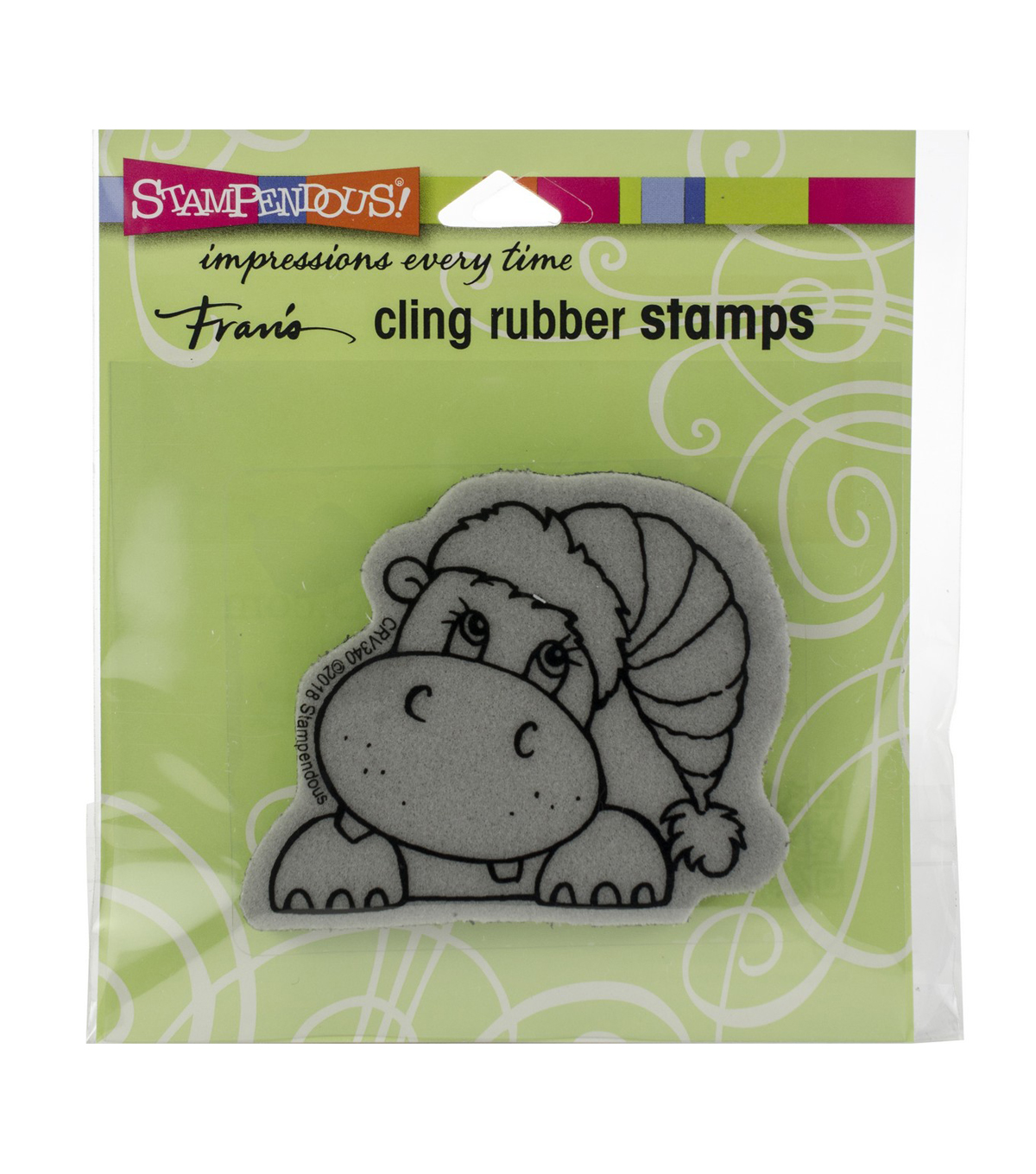 Stampendous Cling Stamp -Hippo Holiday