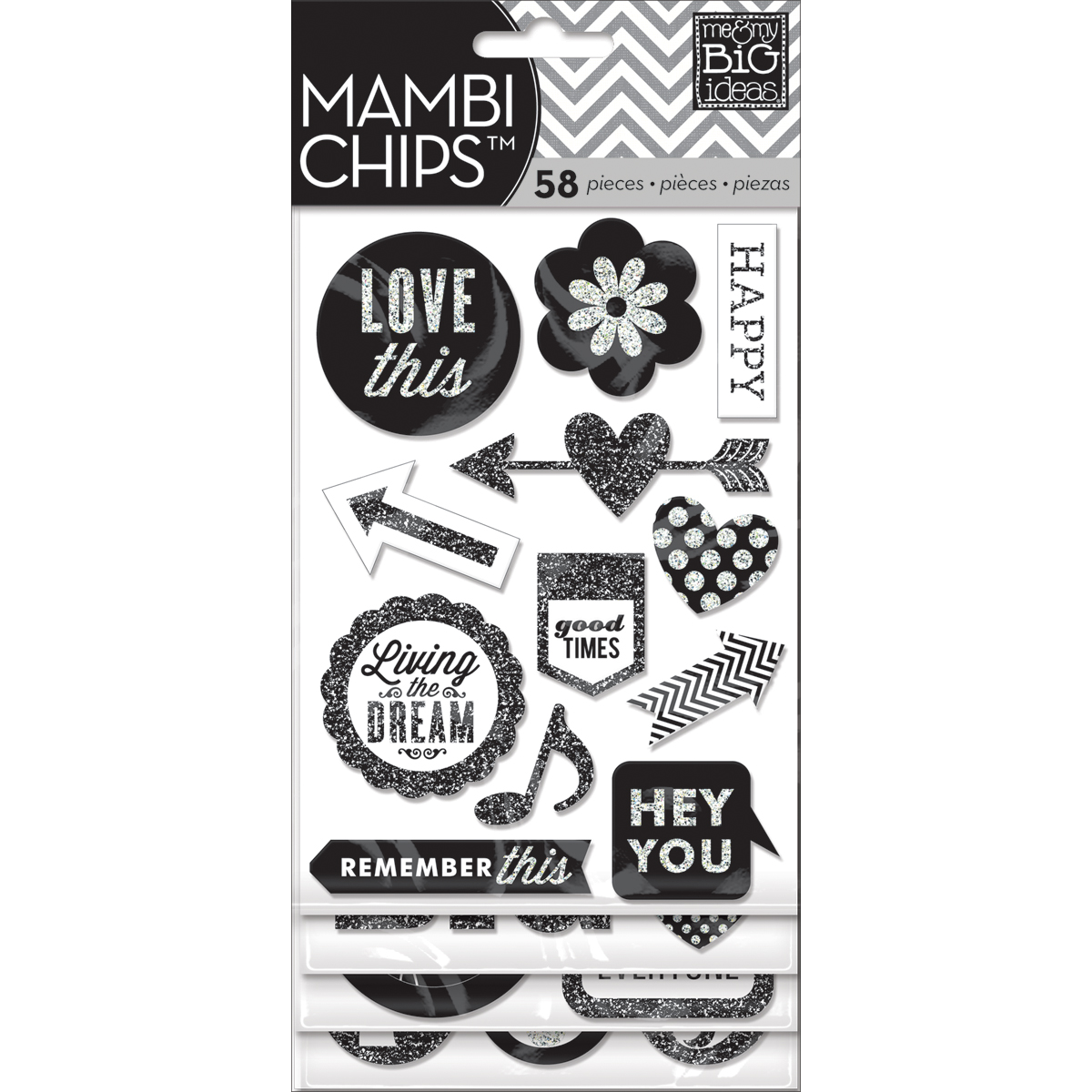Me & My Big Ideas Mambi Chipboard Stickers Hey You